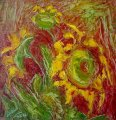 Lyuba Zahova - Three sunflowers
