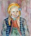 Ива Георгиева - Портрет на дете, по мотиви на художника Васил Стоилов